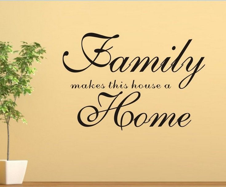 family home Wall Quotes decal Removable stickers decor Vinyl DIY art ...