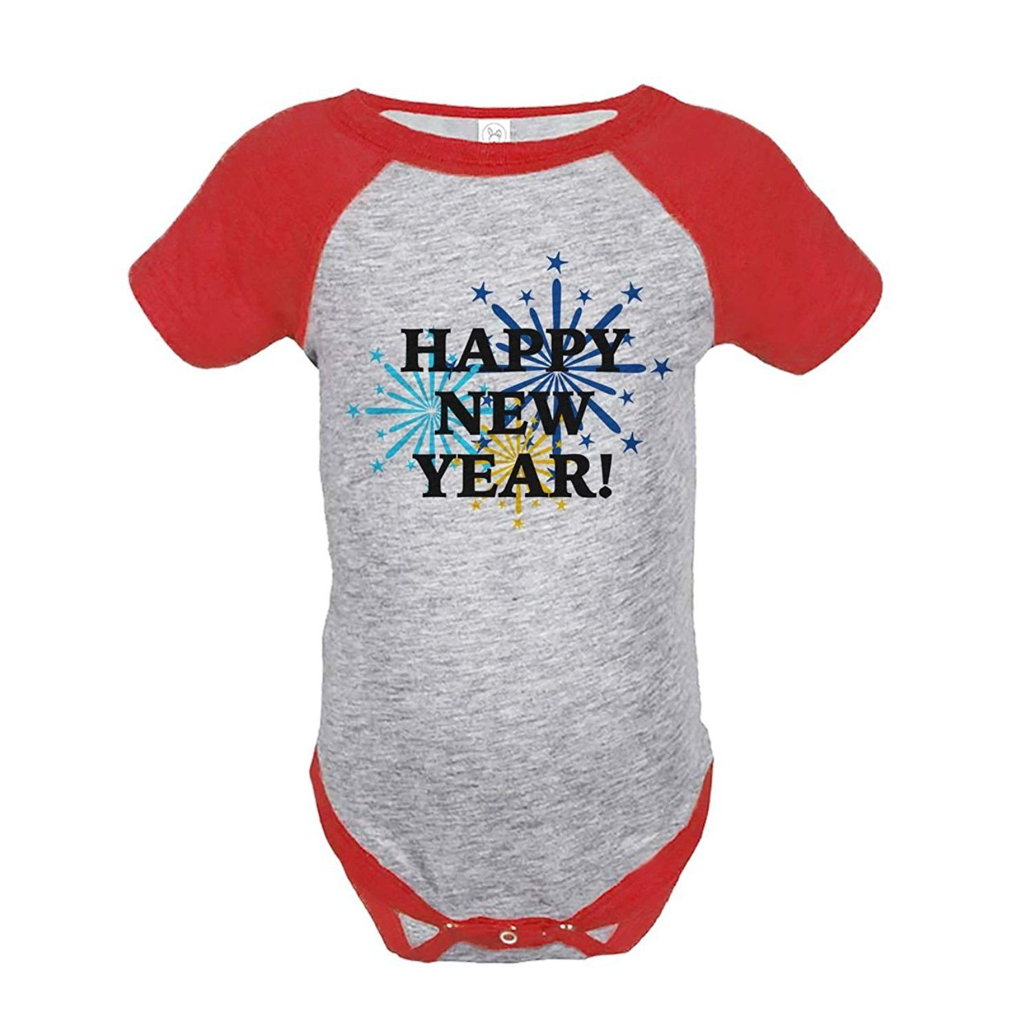 Custom Party Shop Baby's Fireworks Happy New Year Onepiece