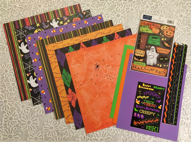 Happy halloween x scrapbook pages kit pieces build your