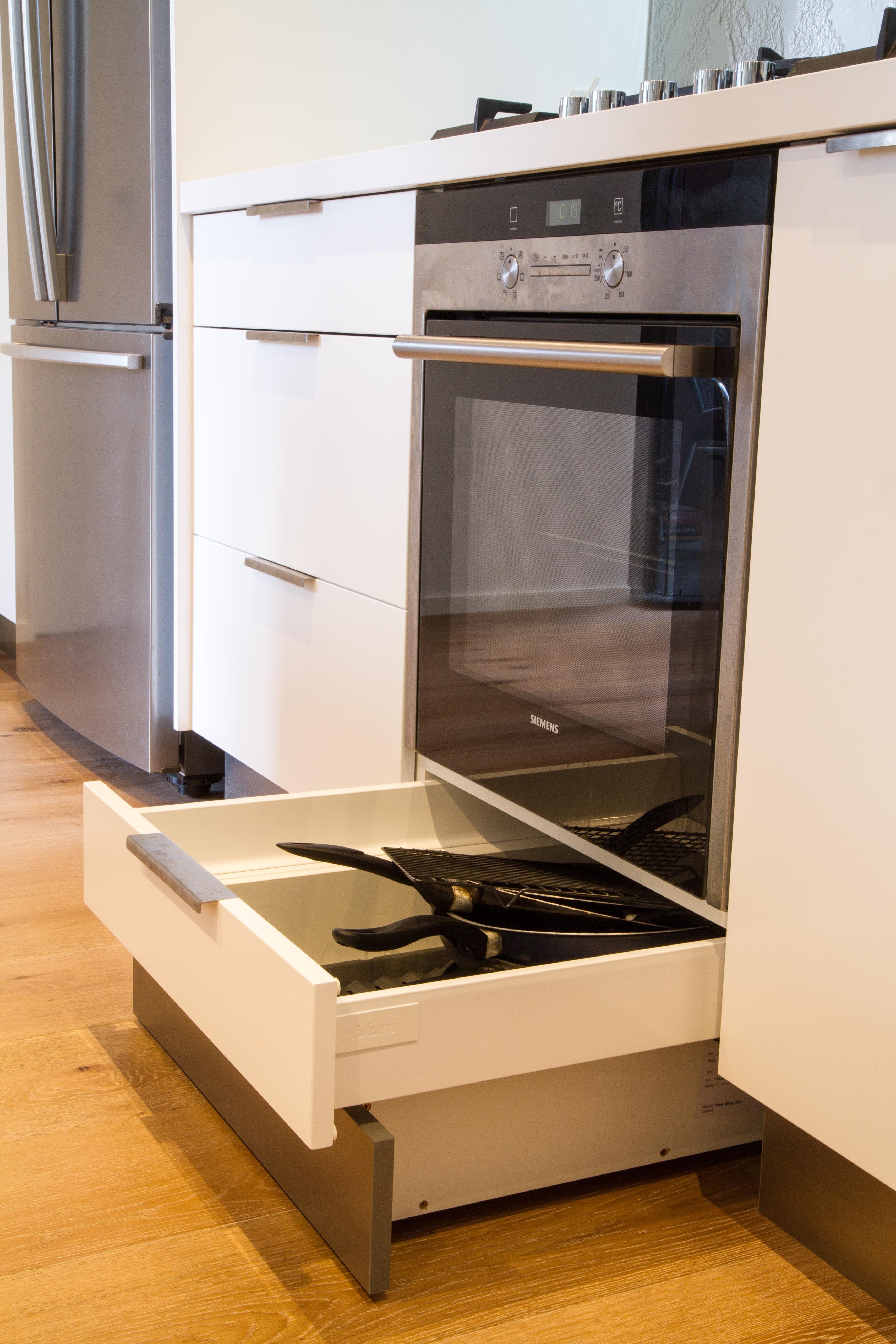 Uncategorized Discount Kitchen Appliances Melbourne integrated kickboard drawer under oven white kitchen www thekitchendesigncentre com