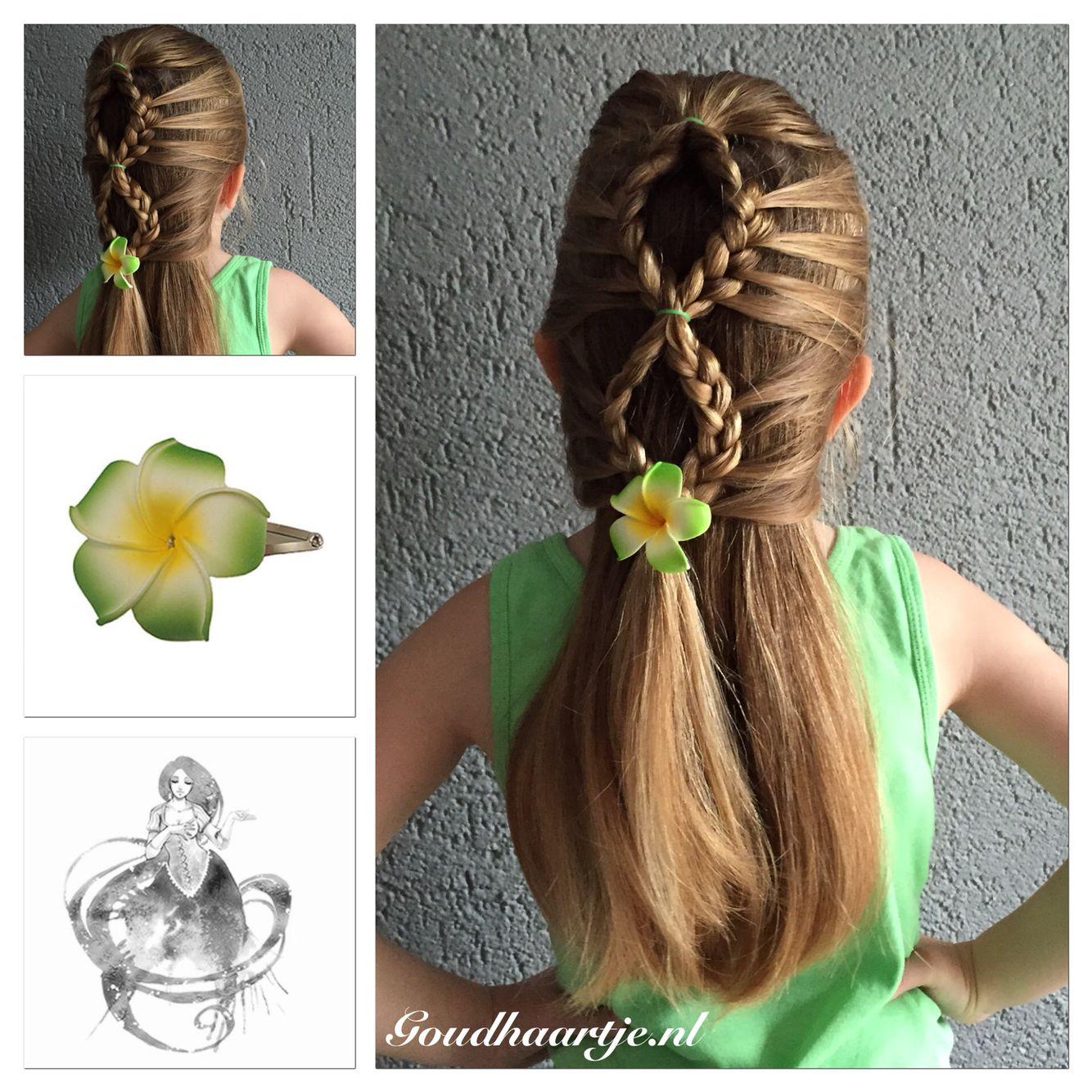 Mermaid braid with beautiful hair flower from goudhaartje mermaid braid with beautiful hair flower from goudhaartje mermaidbraid hairflower braid izmirmasajfo