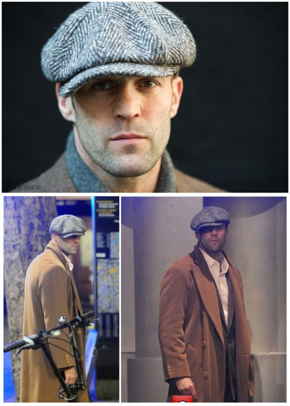 NEW LARGE PEAKY BLINDERS FLAT CAP IVY GOLF NEWSBOY HERRINGBONE GREY   BROWN e1ac5fda8aa