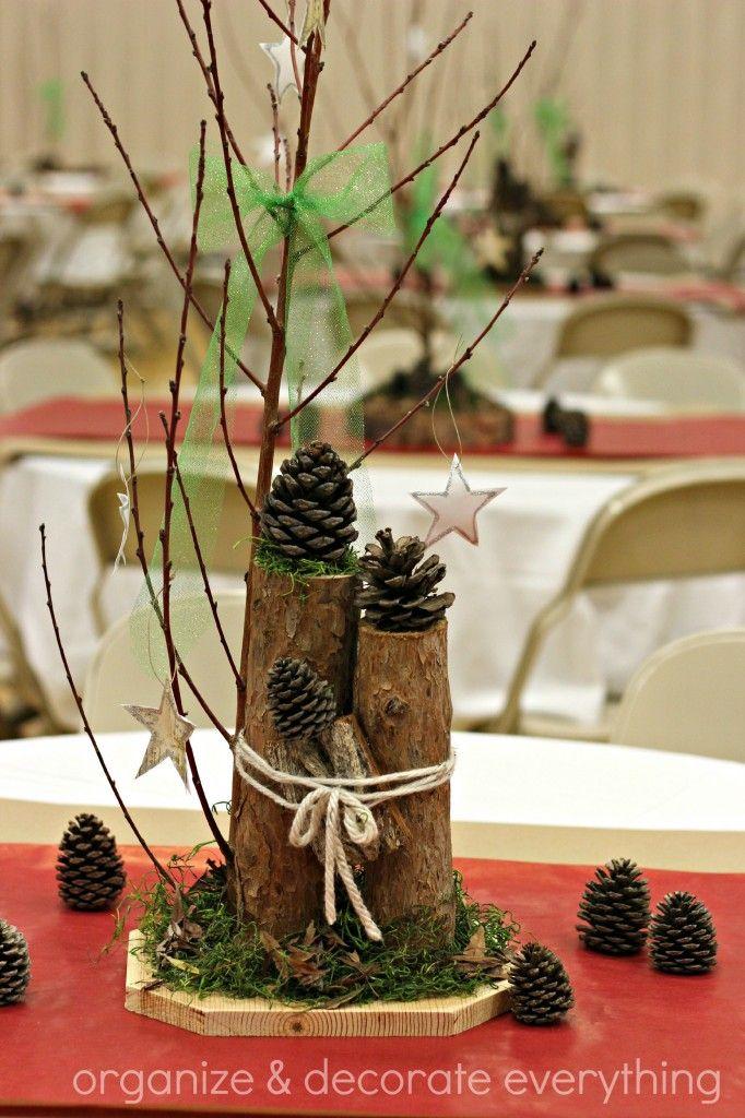 Tree Trunk Slice Branch Centerpiece Tree Trunk Slices Christmas Tree Painting Branch Centerpieces