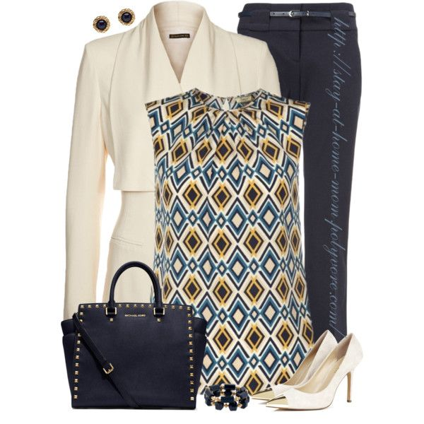 """Tribal Print Blouse"" by stay-at-home-mom on Polyvore"