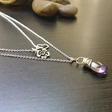 Dainty Stone Necklace with Mini Charms-Two Strand $18