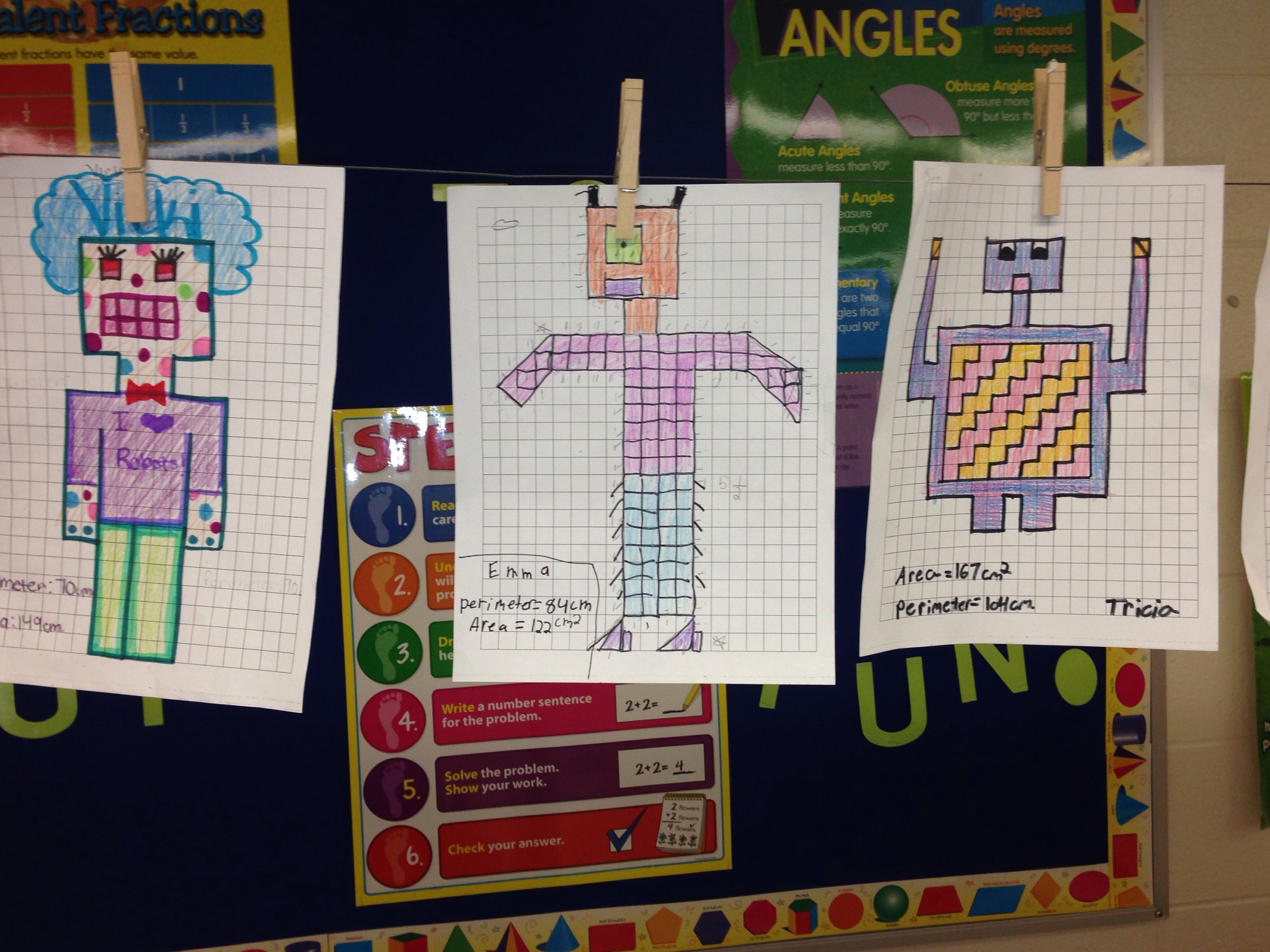 Students Created Perimeter And Area Robots