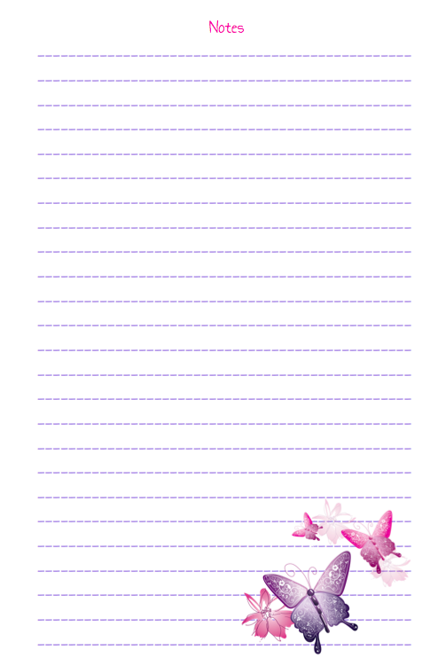 Cute Butterfly Printables  Printable Notepad Paper