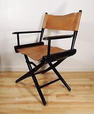 Vintage Mid Century Original Telescope Folding Director Chair