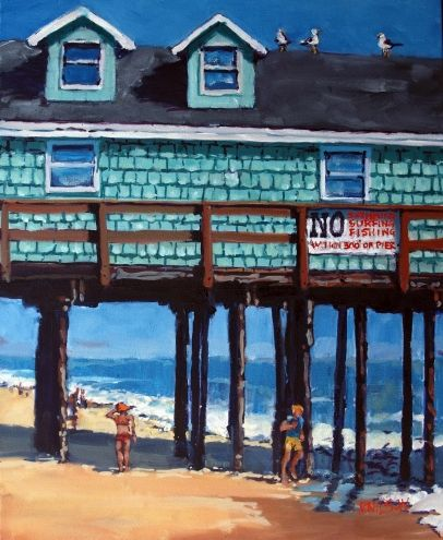A Slice of Avalon, painting by artist Rick Nilson