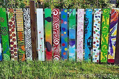painted fence fields  painted fence fields