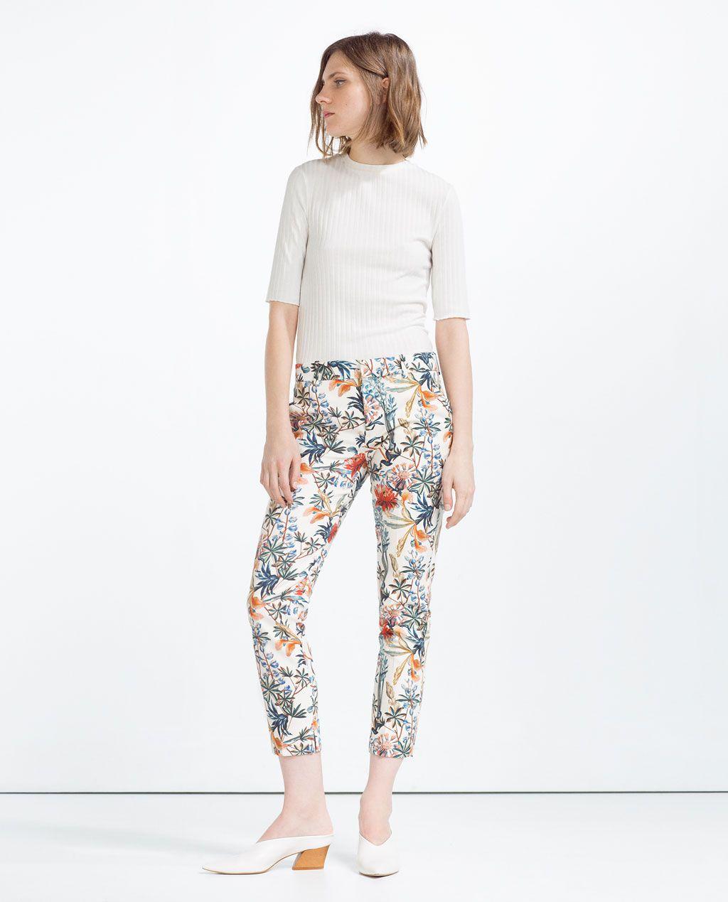 zara femme pantalon imprim robes fleuries pinterest mariage pantalons et printemps. Black Bedroom Furniture Sets. Home Design Ideas