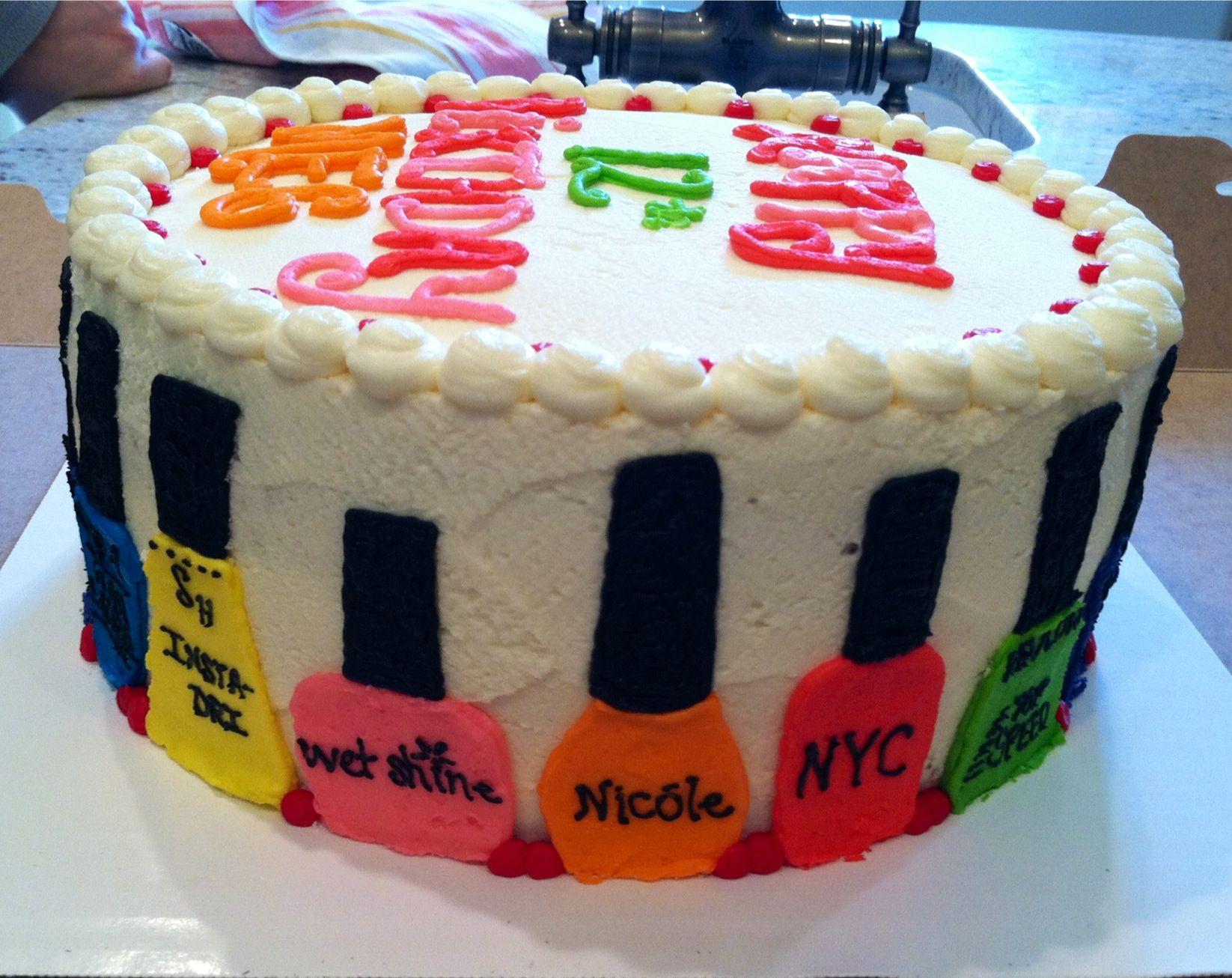 Nail polish cake   Cakes   Pinterest   Pedicures, Cake and Birthdays