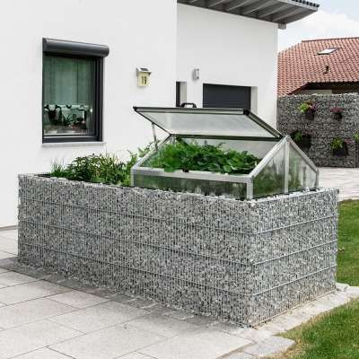 Gabione Hochbeet Frühbeetaufsatz Garten Pinterest - Vorgarten Moderne Gestaltung