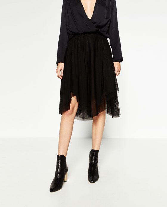 2f52a3f71 ZARA - MUJER - FALDA TUL CAPAS | My Style | Faldas de tul, Faldas y Tul