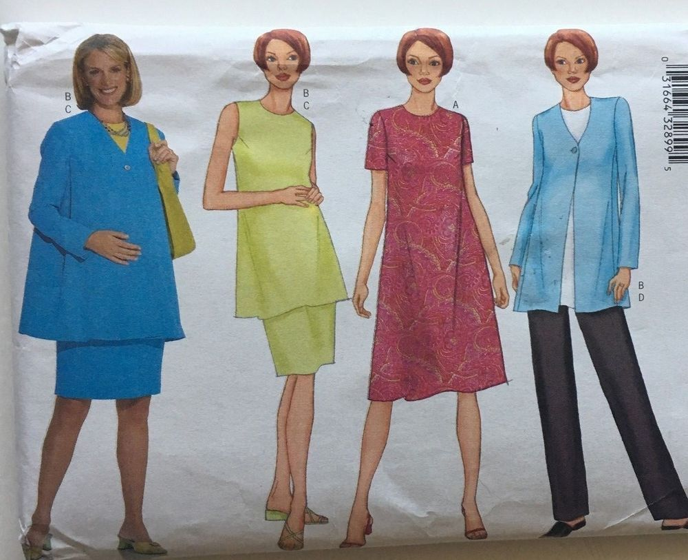 Butterick 6951 fast easy maternity dress tunic skirt pants sizes butterick 6951 fast easy maternity dress tunic skirt pants sizes 12 16 classic ombrellifo Images