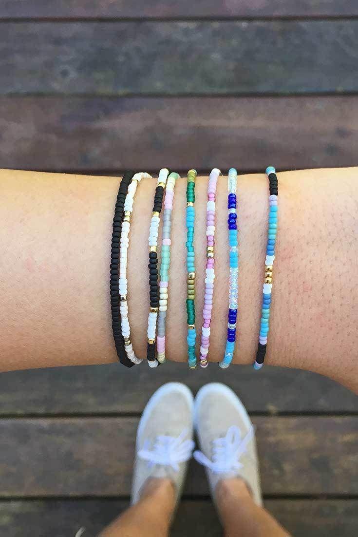 Simple Colorful Pura Vida Bracelets Beaded
