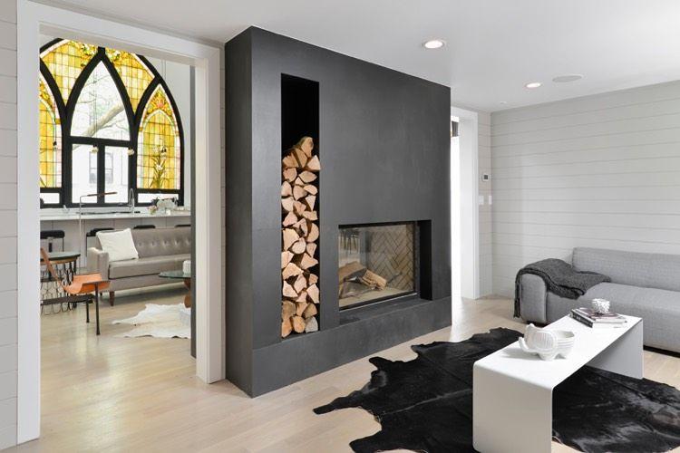 Cheminée double face – profiter de son grand impact visuel pour aménager un intérieur moderne et cosy