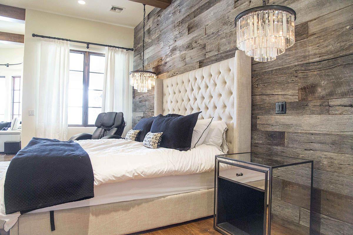 Pbw Tobacco Barn Grey Wood Wall Master Bedroom Rustic Master Bedroom Farmhouse Master Bedroom Rustic Bedroom