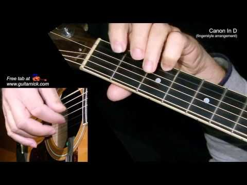 Canon In D By Pachelbel Fingerstyle Guitar Lesson Tab By