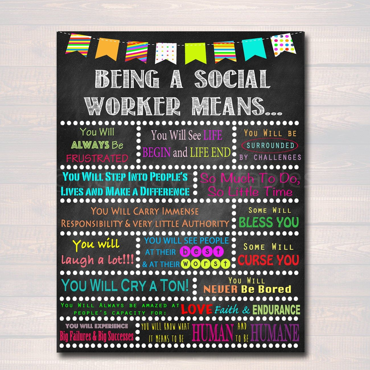 Social Worker Inspirational Art Social Worker Gift Social Etsy Social Worker Gifts Social Worker Office Decor Social Workers Office