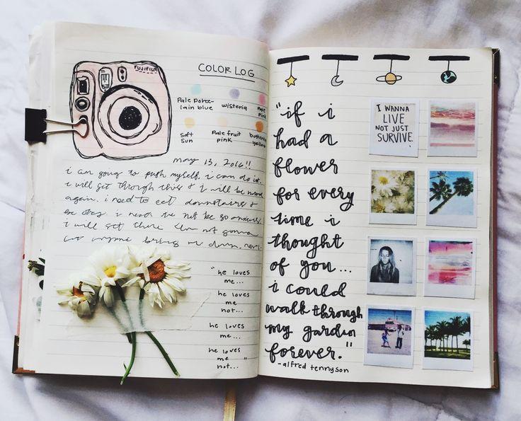 résultat de recherche d images pour diary ideas tumblr scrapbook