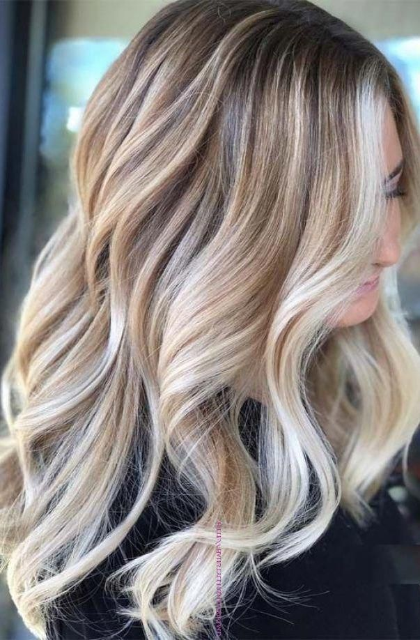 37 Cream Blonde Hair Color Ideas for This Spring 2019, Cream Blonde Hair Color Healthy cream blonde curls seem like an unattainable dream for any beauty who want to brighten their hair. It is not so easy t..., Blonde #balayagehairblonde #darkblondehair