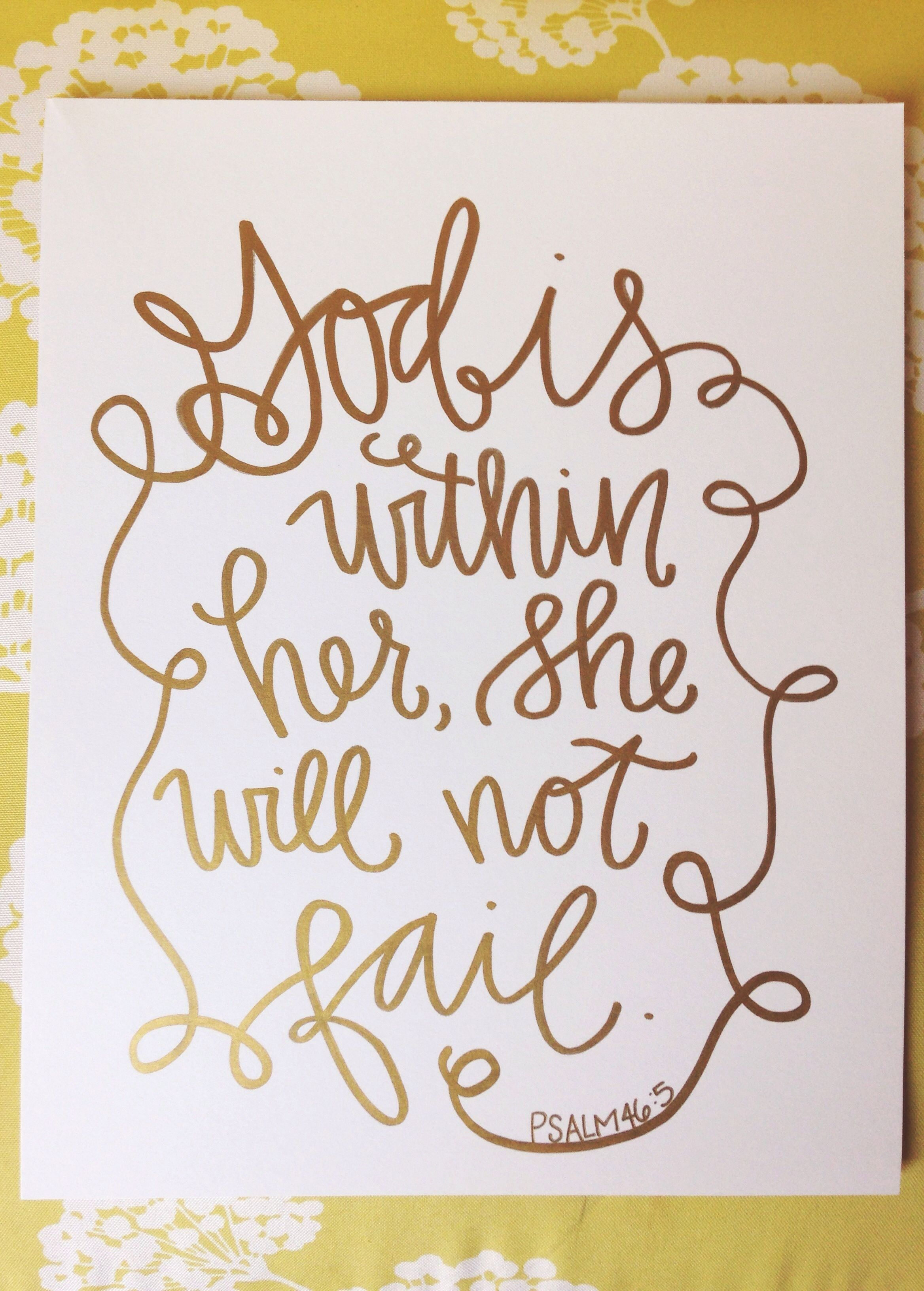 God is within her she will not fail Alliesmithdesigns.etsy.com ...