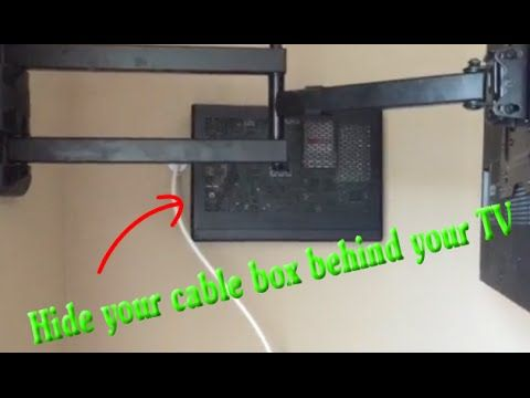 Hide Cable Verizon Box Behind Tv On Wall Wall Mounted Tv Tv Wall Hide Cables