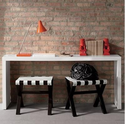 Jonathan Adler Lacquer Console Table Big Enough To Put