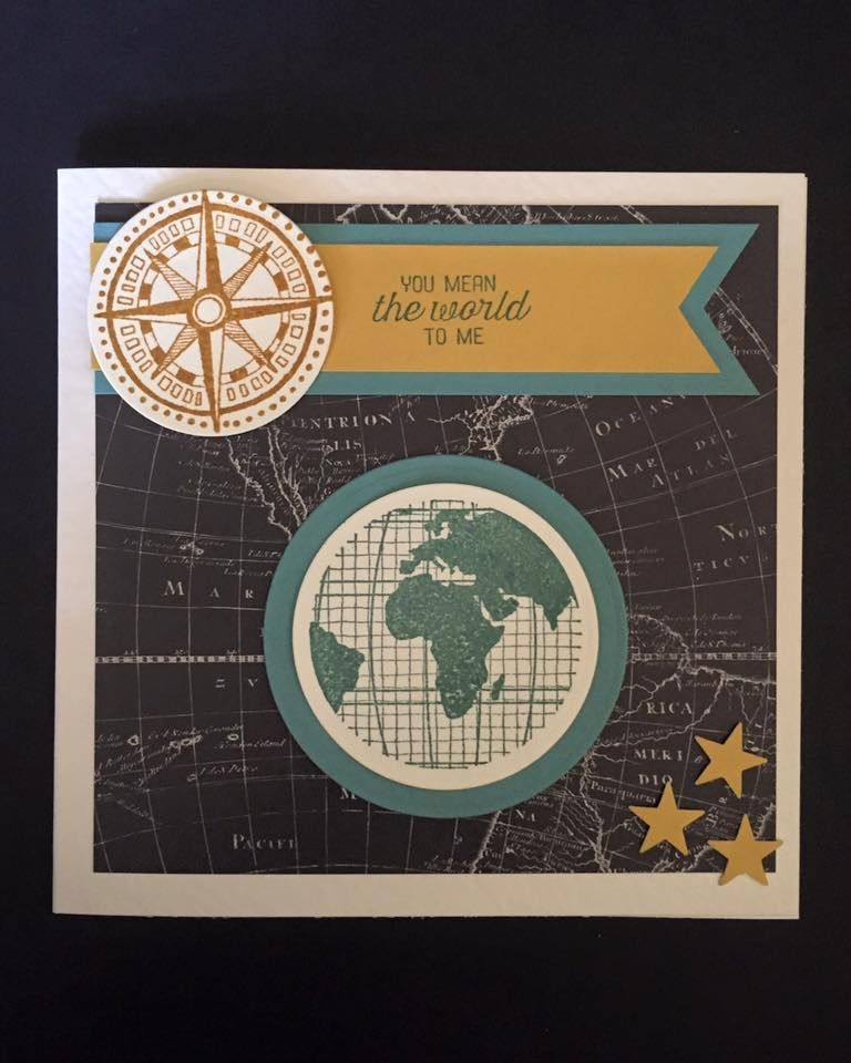 Stampin Up going global stamp set. banner triple punch tags