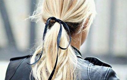 Coleta con cintas: La nueva tendencia en peinados - ¿Quieres saber cómo realzar tu coleta? Añádele una cinta. Es la nueva tendencia en peinados, sencilla y muy cute. Te contamos cómo llevarla.