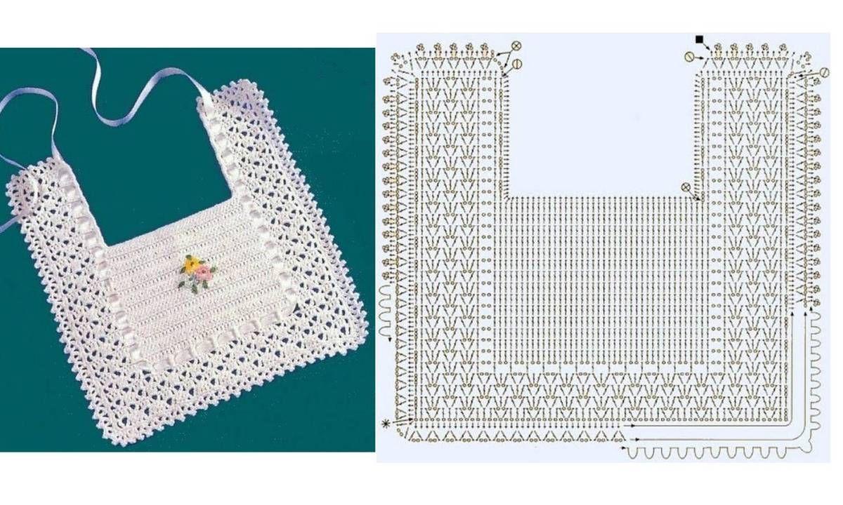 Bavoirs pour bébé et leurs grilles gratuites !   Crochet   Pinterest ...