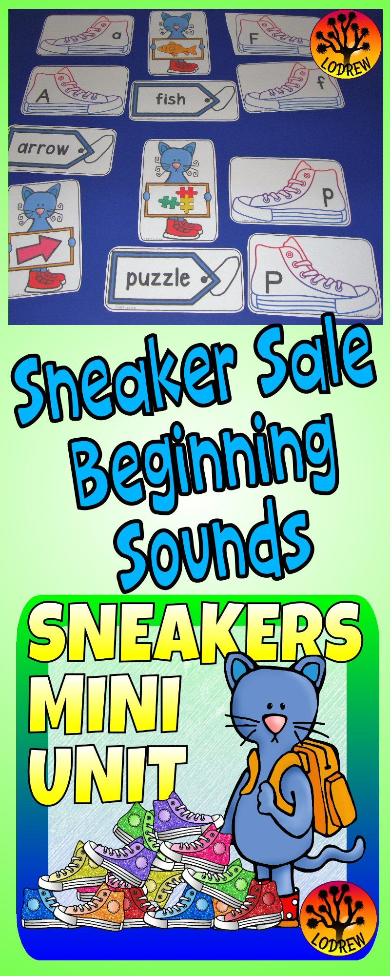 Sneaker Centers Activities Cat Centers Colors Shapes Counting Cat ...