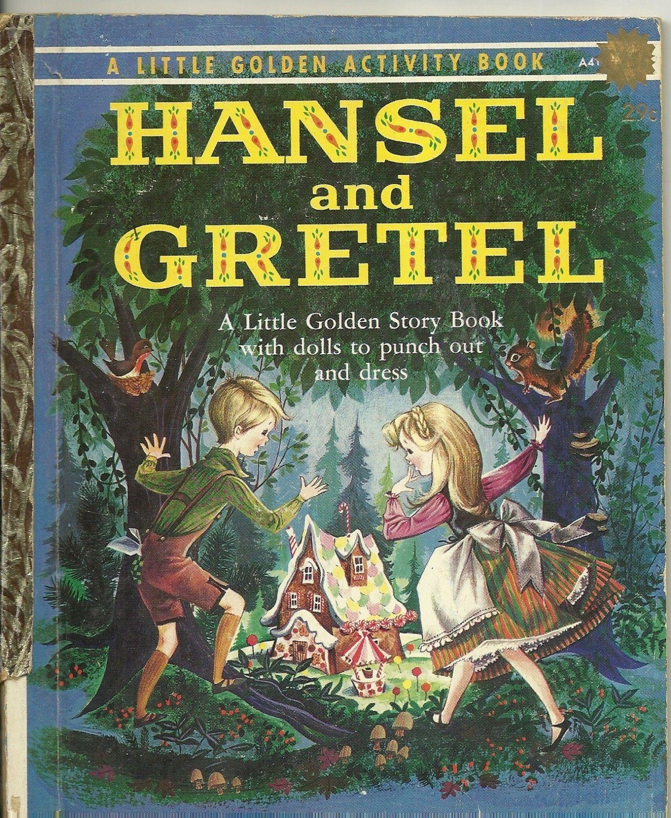 Vintage 1960s Little Golden Book Hansel And Gretel 1st Ed W Punch Outs Little Golden Books Childhood Books Favorite Childhood Books