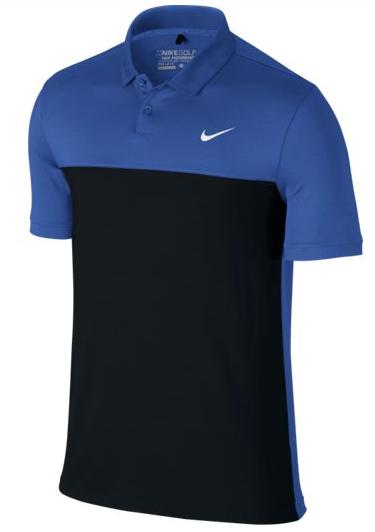Nike Icon Color Block - Polo para hombre, color verde/azul/blanco, talla L