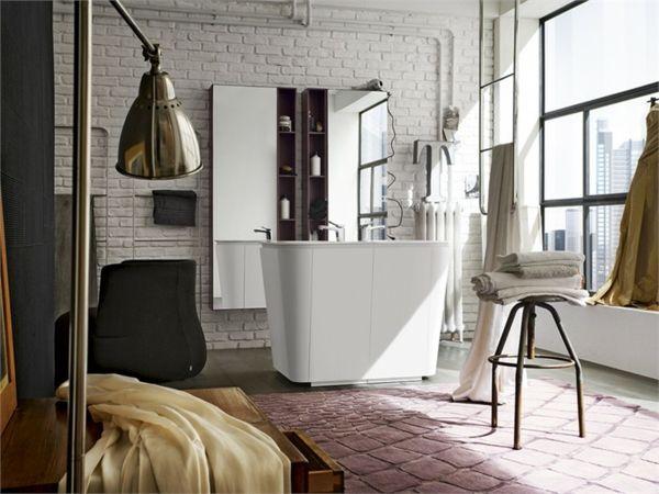 Spiegelschrank badezimmer ~ Freistehende waschtische hoher spiegelschrank badezimmer