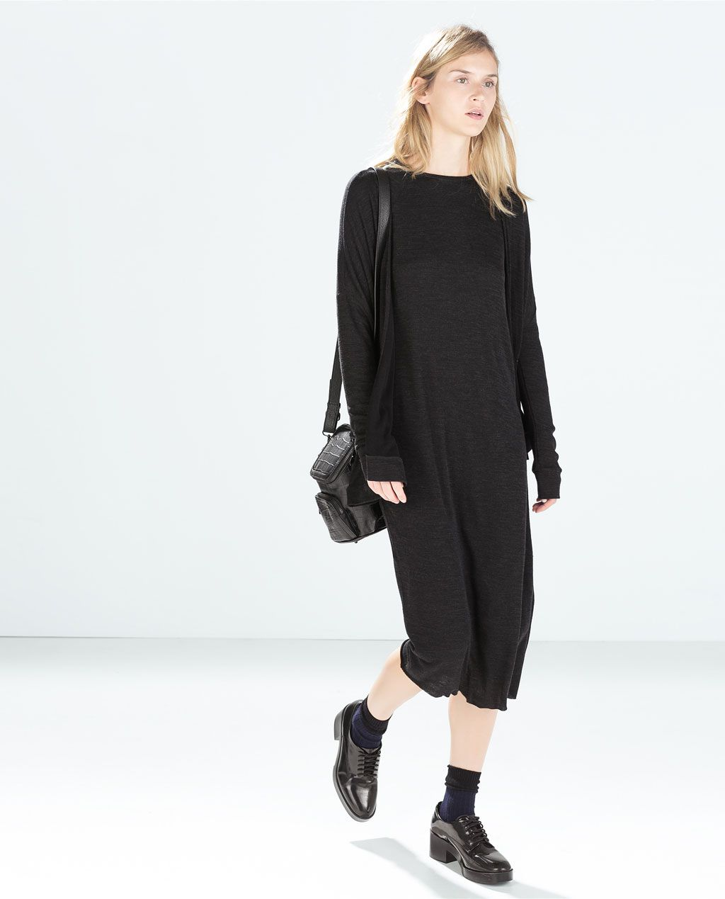 Zara new this week oversize ribbed dress wl pinterest zara