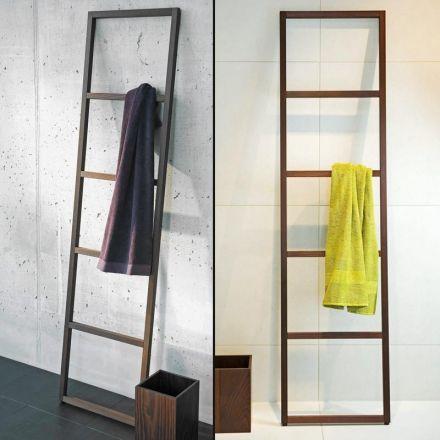 chelle porte serviette en bois pour salle de bain tr s original dans son design les. Black Bedroom Furniture Sets. Home Design Ideas