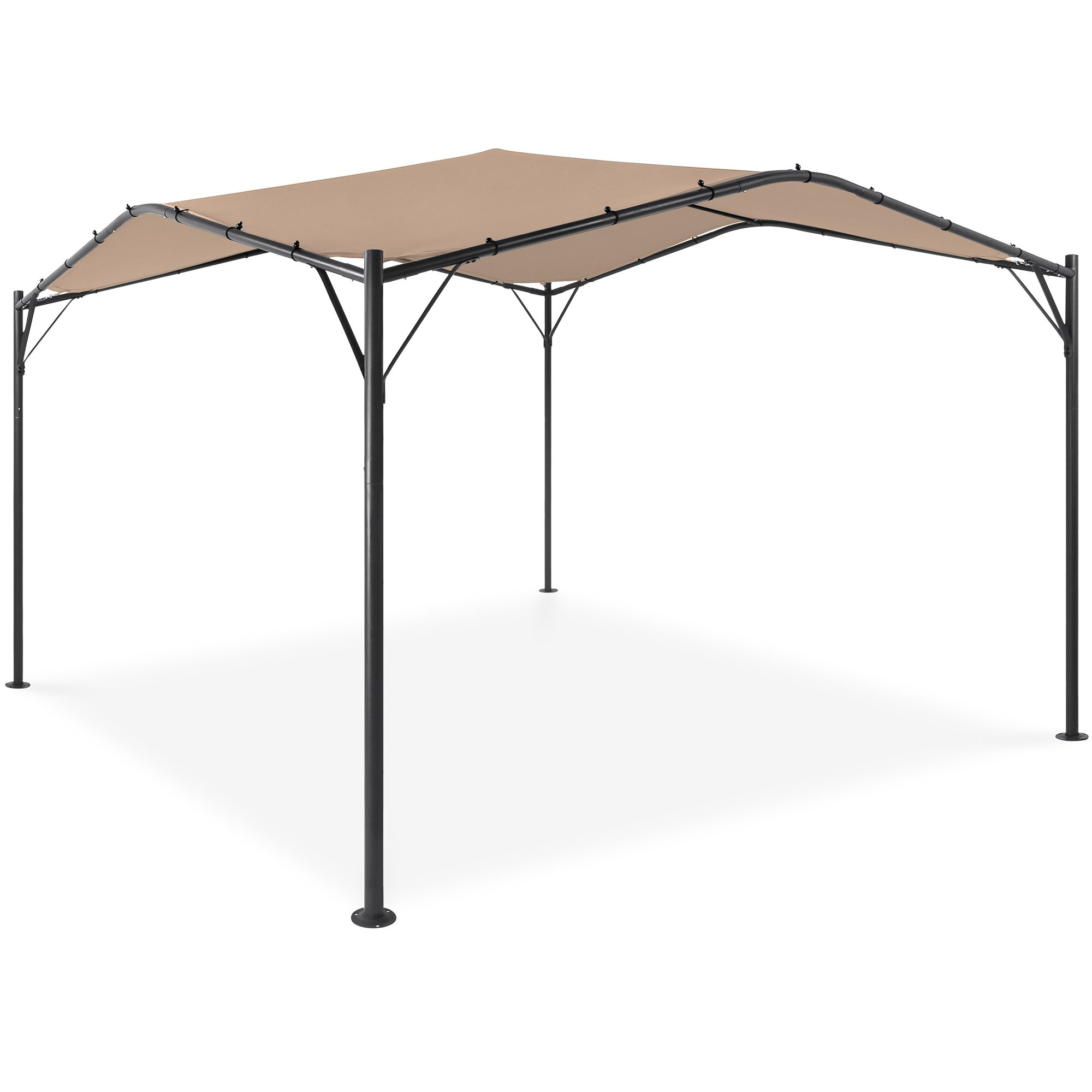 Best Choice Products 12x12ft Gazebo Canopy For Patio Backyard W Weighted Bags Weather Resistant Easy Assembly Tan Walmart In 2020 Gazebo Canopy Gazebo Backyard