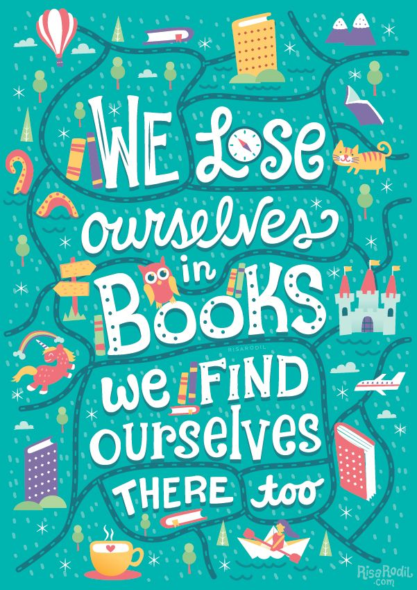 we lose ourselves in books. we find ourselves there too. library/study art decoration