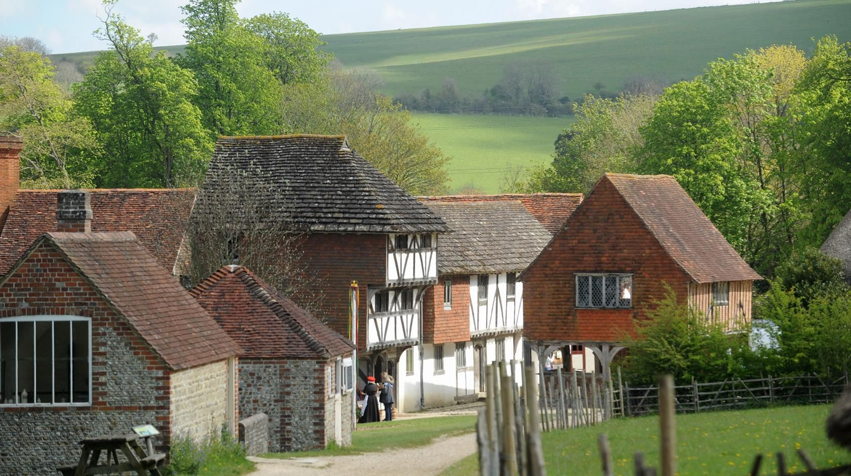 Tudor buildings at Weald and Downland Living Museum in