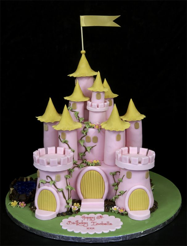another pink castle cake