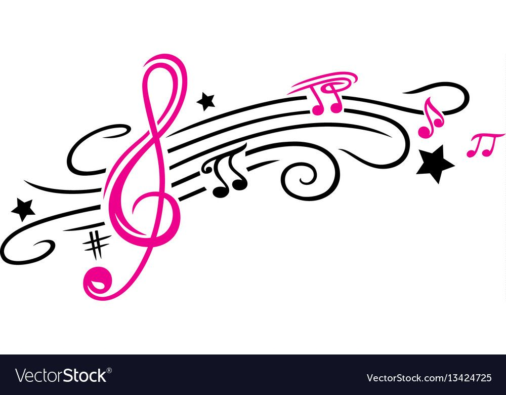 Music Notes And Clef Royalty Free Vector Image Affiliate Clef Notes Music Royalty Ad Music Notes Background Music Notes Music Tattoo Designs