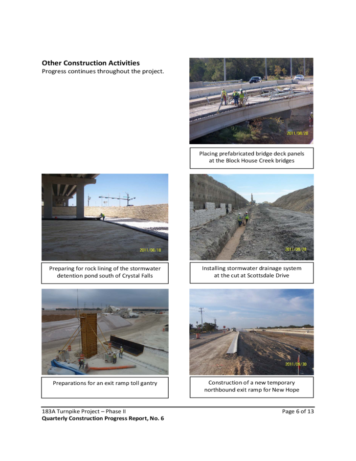 Quarterly Construction Progress Report Free Download Template For