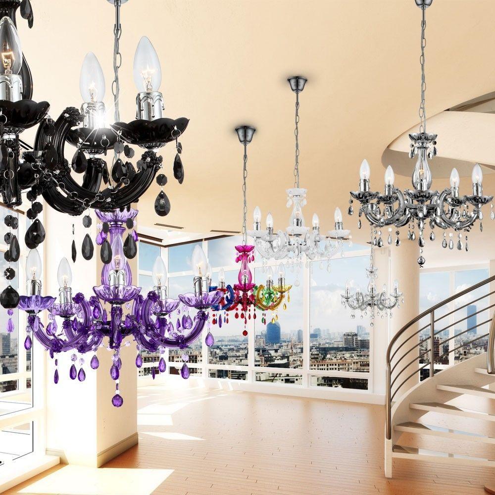 Details Zu Kronleuchter Wohnzimmer Hange Decken Pendel Leuchten Lampen Verschiedene Farben