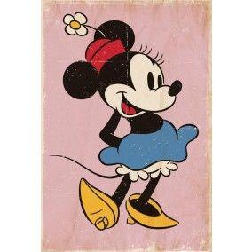 Retro Minnie Mouse fotobehang bij Behangwebshop
