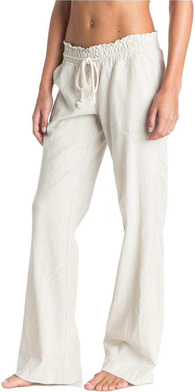 113f039023 Roxy Women's Ocean Side Pants in 2019 | Products | Linen pants ...