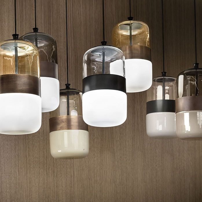 Lampe Suspension / Contemporaine / En Verre Soufflé / En