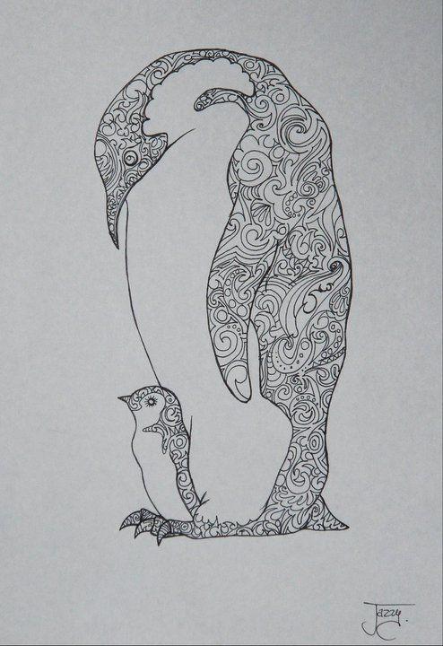 kleurplaat volwassenen pinguin  kleurplaten van dieren