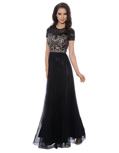 12b31612283 Sequined Chiffon Gown